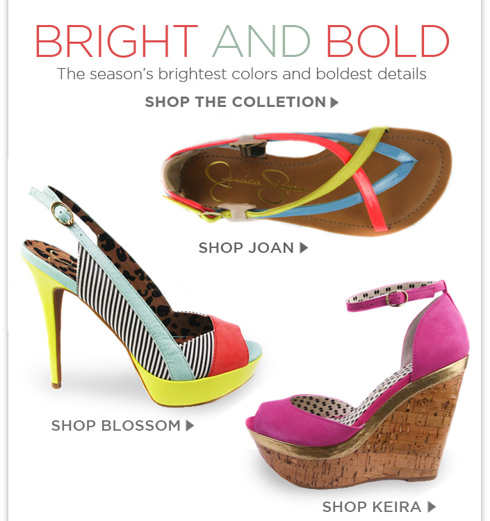 Bring on the Spring with bright and bold sandals. + Buy 1 Get 1 Free Ends Friday! Use code: SPRINGFLING