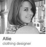 Allie clothing designer