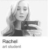 Rachel art student