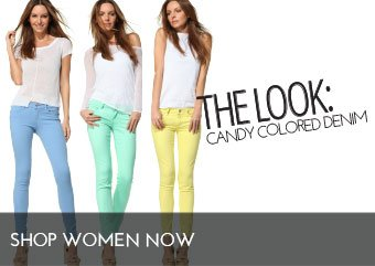 The Look Candy-Colored Denim