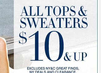 All Tops and Sweaters $10 and up! PLUS all Crops & Shorts are Buy One Get One 50% Off! Shop Now!