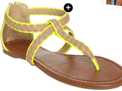 Braided Pop Gladiator Sandal