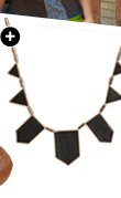 Faux Leather Station Necklace