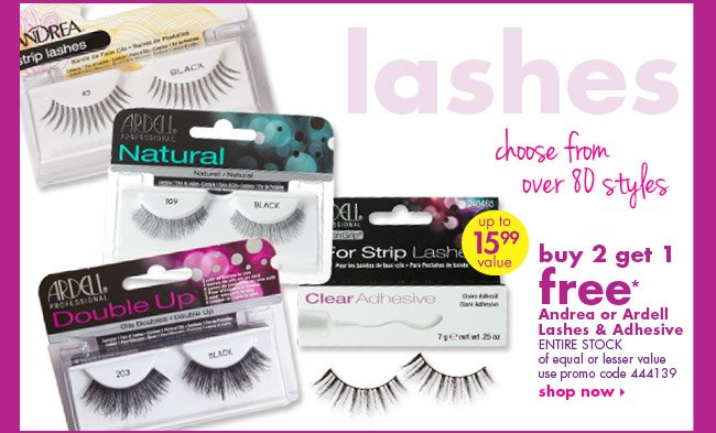 buy 2 get 1 free* Andrea or Ardell Lashes & Adhesive