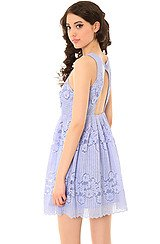 The Rocco Dress in Ice Blue