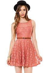 The Spring Love Dress in Peach