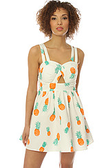The Pineapple Tie Back Dress