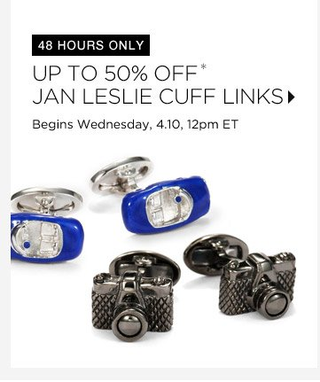 50% Off* Jan Leslie Cuff Links...Shop Now