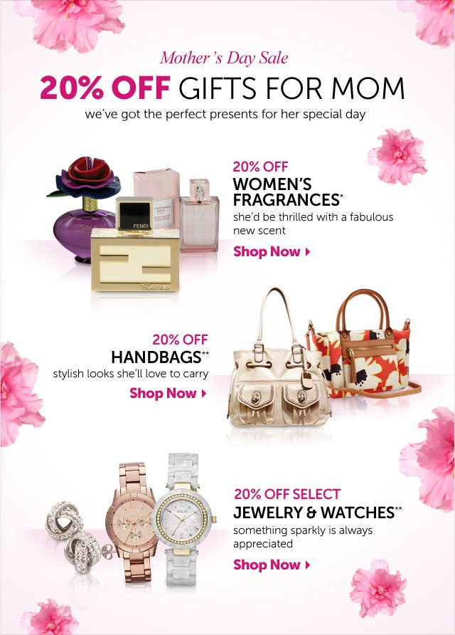 Mother's Day Sale - 20% OFF Gifts For Mom - we've got the perfect presents for her special day