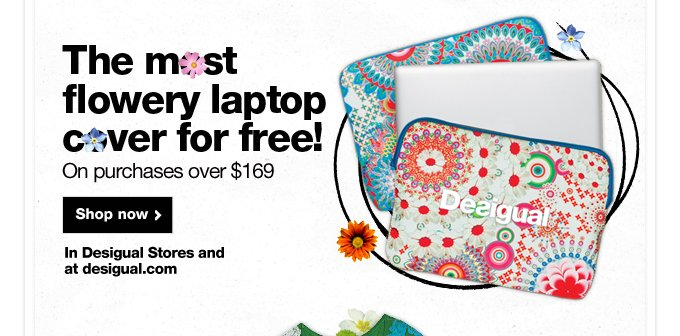 Only this week the most flowery laptop cover for free