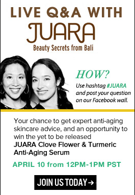 Live Q&A with JUARA Here's your chance to learn skin care secrets from the experts behind this popular line! Learn More>>