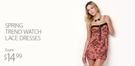 Spring trend watch - lace dresses