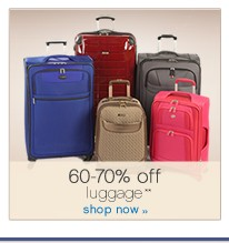 60-70% off luggage**. Shop now.