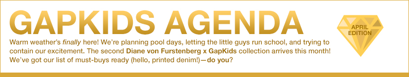 GAPKIDS AGENDA | APRIL EDITION