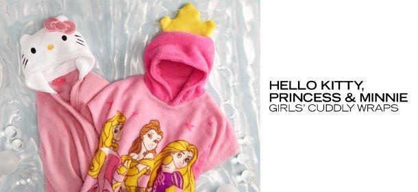 HELLO KITTY, PRINCESS & MINNIE: GIRLS' CUDDLY WRAPS, Event Ends April 13, 9:00 AM PT >
