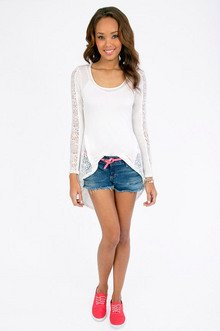 Au Paris Lace Top $26