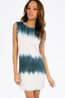 Tie Dyed and Chained Tunic $25
