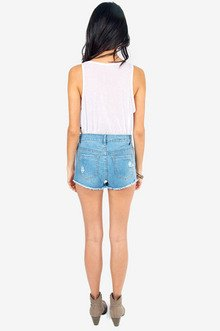 Way High Cutoff Shorts $37