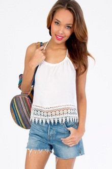 Trisha Trim Halter Top $26