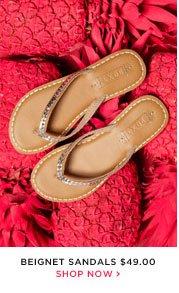 Beignet Sandals - $49.00 - Shop Now