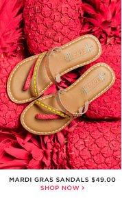 Mardi Gras Sandals - $49.00 - Shop Now
