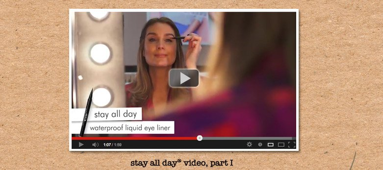 watch as sarah shows you her favorite tips for eyes featuring the stay all day family!