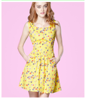 Tulle Scattered Pansy Dress