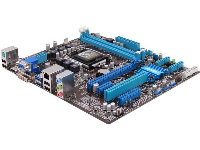 ASUS P8H77-M LE LGA 1155 Intel H77 HDMI SATA 6Gb/s USB 3.0 uATX Intel Motherboard with UEFI BIOS