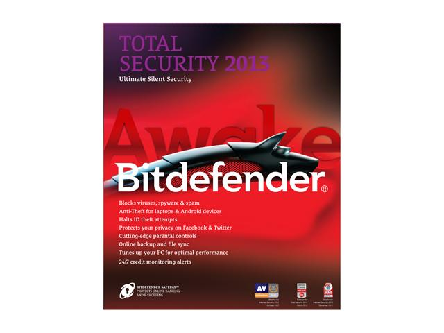 bitdefender Total Security 2013 - 3 PCs / 2 Years