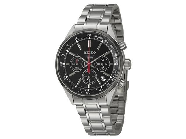 Seiko SSB045 Chronograph Black Dial Stainless Steel Men's Watch