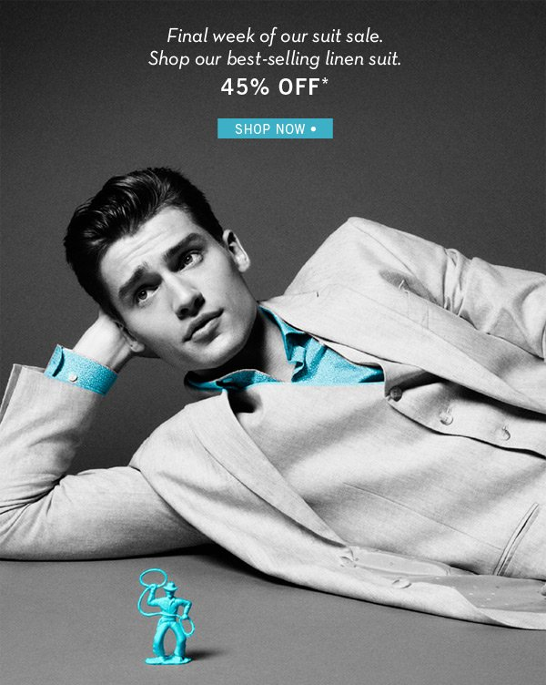 Last Chance - Up to 45% Off Suits