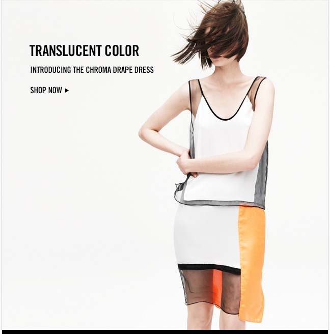 TRANSLUCENT COLOR - Introducing the Chroma Drape Dress - Shop now