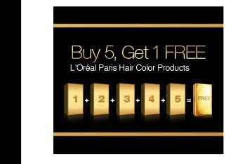 Buy 5 Get 1 FREE L'Oréal Paris Hair Color Products