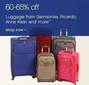 60-65% off Luggage from Samsonite, Ricardo, Anne Kleine and more** Shop now.