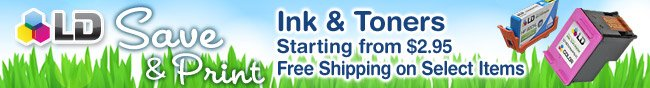 LD Products - Ink & Toners Starting from $2.95 Free Shipping on Select Items.