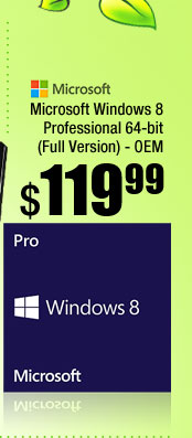 Microsoft Windows 8 Professional 64-bit (Full Version) - OEM