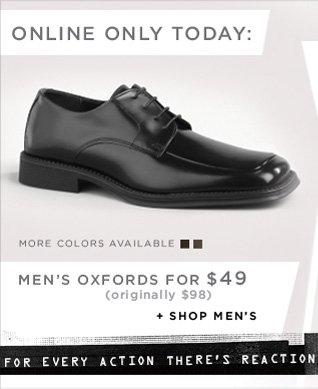 ONLINE ONLY TODAY // MEN'S OXFORDS FOR $49 (originally $98) / SHOP MEN'S