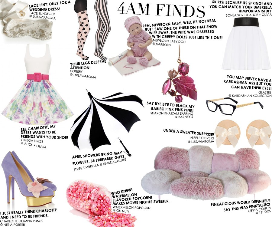 4am Finds by Stacey Bendet