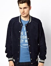 Jack & Jones Suede Baseball Jacket