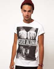 Blood Brother T-Shirt with Never Alone Print