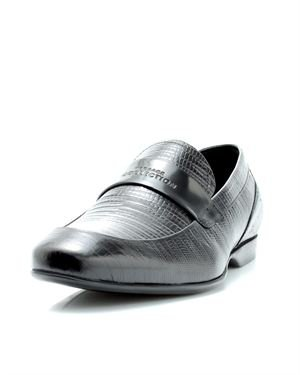 Versace Genuine Leather Embossed Loafers
