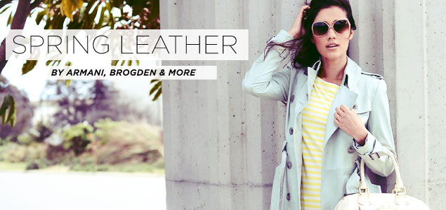Spring Leather By Armani, Brogden & More