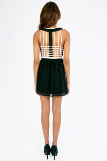 Lace Cage Back Skater Dress $35