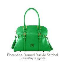 Florentine Domed Buckle Satchel