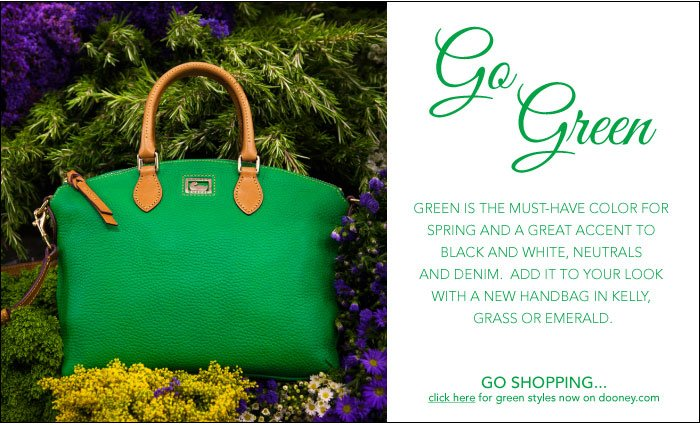 Go Green - shop the must-have color for spring