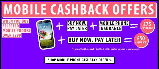 Shop Mobile Phone Cashback Offer