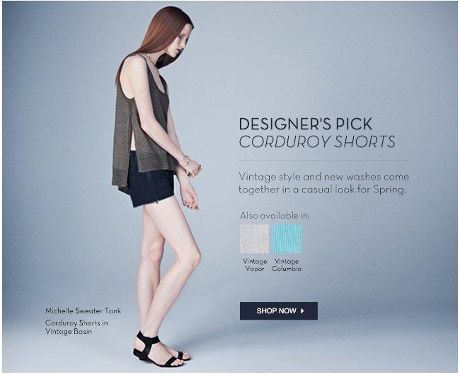 coruroy shorts