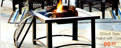 32-Inch Slate Firepit with Cover 99.99