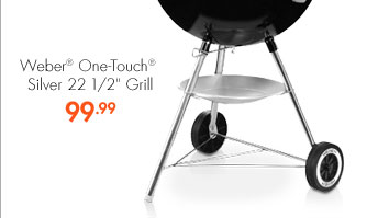 """Weber® One-Touch® Silver 22 1/2"""" Grill 99.99"""