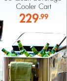 Stainless Steel 80-Quart Beverage Cooler Cart 229.99